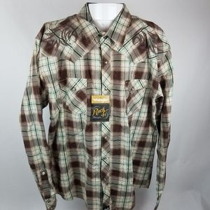Rock 47 by Wrangler mens long sleeve button down